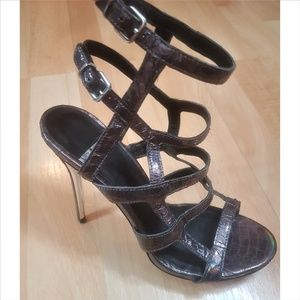 Marciano Chynna Purple Caged Heel NWOT